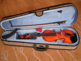 1/2 Geige, schöne Manufaktur, rötlicher Lack