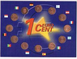 1 Euro Cent der 12 Gründer Staaten !