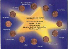 Foto 2 1 Euro Cent der 12 Gründer Staaten !