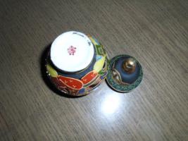 Foto 3 1 hübsche japanische Porzellan Vase und Teller