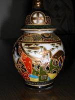 Foto 4 1 hübsche japanische Porzellan Vase und Teller
