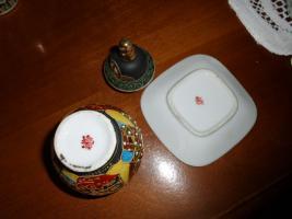 Foto 5 1 hübsche japanische Porzellan Vase und Teller
