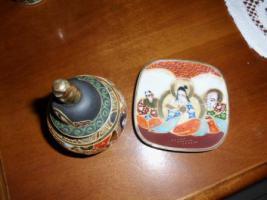 Foto 6 1 hübsche japanische Porzellan Vase und Teller