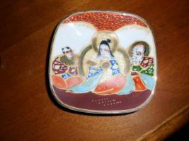 Foto 7 1 hübsche japanische Porzellan Vase und Teller