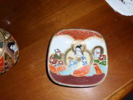 Foto 8 1 hübsche japanische Porzellan Vase und Teller