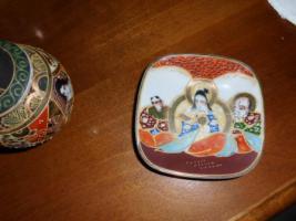 Foto 9 1 hübsche japanische Porzellan Vase und Teller