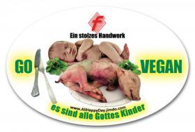 10 Aufkleber ''GOTTES KINDER'' Tierschutz Go Vegan Autoaufkleber Sticker