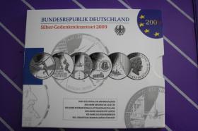 10 EUR Silber-Gedenkmünzenset 2009,2010,2011 in PP