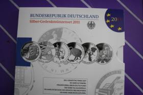 Foto 3 10 EUR Silber-Gedenkmünzenset 2009,2010,2011 in PP
