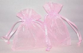 Foto 7 100 Organzasäckchen 10 x 8 cm braun, creme, rosa, oder burgund