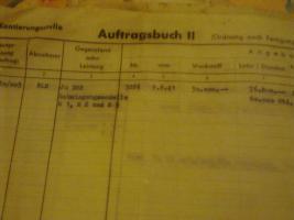 11 alte Auftragsbuchseiten (Original) Hugo Junkers