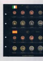 12 vollständige Euro Kursmünzensätze im Album ! !