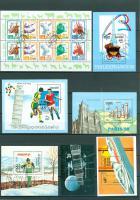 15 verschiedene Asien gestempelte Blöcke/Kleinbogen wie auf Bilder zu sehen, ohne Steckkarten.