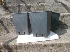160 Viereckige Töpfe - 15 x 15 x 20 cm - ca. 3,5 Liter