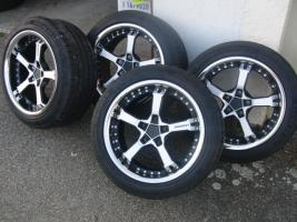 17'' Keskin Felgen mit Reifen für Audi A6 4B nur 1 Monat gefahren