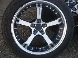 Foto 4 17'' Keskin Felgen mit Reifen für Audi A6 4B nur 1 Monat gefahren