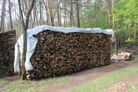 17,5 m³ Brennholz, Kiefern-Meterholz getrocknet & gespalten