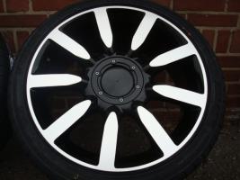 18 ''Nuvolari Schwarz Räder & Reifen Golf456 Vw Audi Sitz (125)  Eine neue Reihe von Rädern Enthält Links  Die Sets sind immer komplett neu und haben neue Die Felgen und Reifen sind von ausgezeichneter Qualität und bieten Stellen Sie sicher, dass es noch