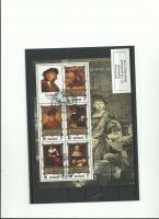 1983 NORD-KOREA BLOCK NR 138 GEST REMBRANDT(MALER)