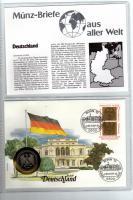 1987 MÜNZBRIEF DEUTSCHLAND MIT 5DM MÜNZE