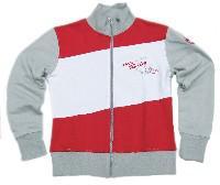 1. FCN Lady Streetjacke Weiß (grau) -rot in Gr. L