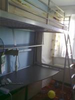 2 in 1 Hochbett + Schreibtisch