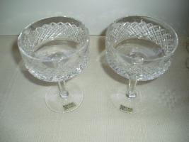 2 Bleikristall-Sektschalen von Wittwer-Bleikristall