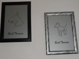 2 Bullterrier Bilder / Bullterrier Figur