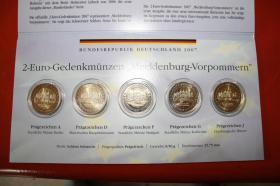 Foto 2 2 EUR Gedenkmünzen Meckl.bg. - Vorpommern bfr 5 X 2 EUR -2007 von A bis J - 25 EUR + Porto