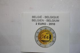 Foto 4 2 EUR Münzen 2010 - in PP -1. Charles de Gaulle -2. Belgien nur 35 EUR pro Münze