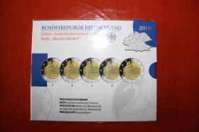 2 EUR - Gedenkmünzenset 2010 - ( Bundesländer )   35,00
