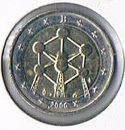 2 Euro Gedenkmünze Belgien '' 2006 '' Atomium ! !
