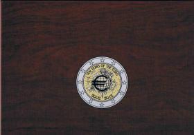 2 Euro Gemeinschaftsausgabe Ten Years of the Euro 21 ! Prägefrische Euro Münzen