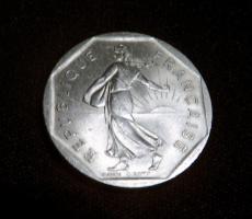 2 Franc Münze von 1979
