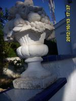 Foto 2 2 Garten-Steinskulpturen Obstkorb,65 cm hoch
