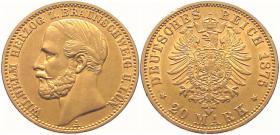 2 Goldmünzen Wilhelm Herzog zu Braunschweig U. LÜN. Deutsches Reich 1875 20 Goldmark A, Wilhelm Deutscher Kaiser und König von Preußen 1872 20 Goldmark A
