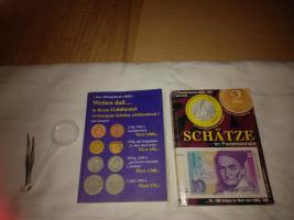 2 Münz Bücher mit Pinzette +Luppe gebraucht gut erhalten