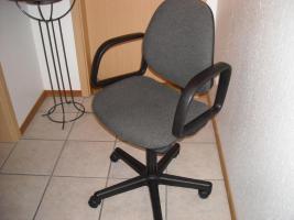 Foto 2 2 Schreibtischstühle grau