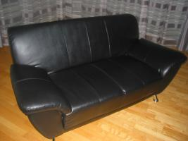 2-Sitzer Couch in Leder-Optik