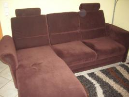 2-Sitzer Sofa mit linksseitigem Canapee, Trendfarbe: Mocca