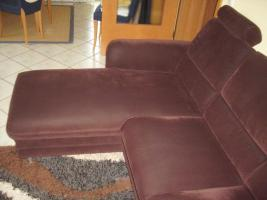 Foto 3 2-Sitzer Sofa mit linksseitigem Canapee, Trendfarbe: Mocca