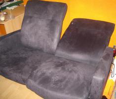 Foto 2 2-Sitzersofa aus Velure mit teilbarer, umklappbarer Lehne