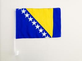 2 Stk. Autofahne Bosnien-Herzegowina WM 2014