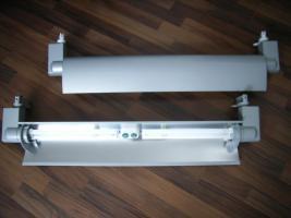2 Strahler / Schienensystem, L 86,5 cm, B 23 cm
