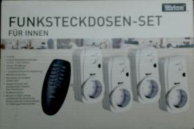 2 Tevion Funksteckdosen - Erweiterung o. Fernsteuerung-neu Mod. GT