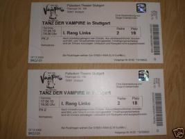 2 tickets tanz der vampire in stuttgart am von. Black Bedroom Furniture Sets. Home Design Ideas