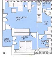 2-Zimmer-Wohnung in Straubing mit TG-Stellplatz