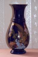 2 echte Cobalt Vasen mit Goldrand!