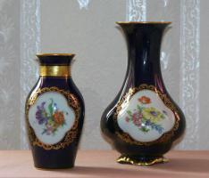 Foto 2 2 echte Cobalt Vasen mit Goldrand!