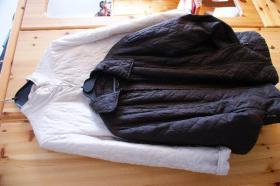 2 gesteppte Damenjacken – Eierschale + braun – 40/42 - Übergangsjacken